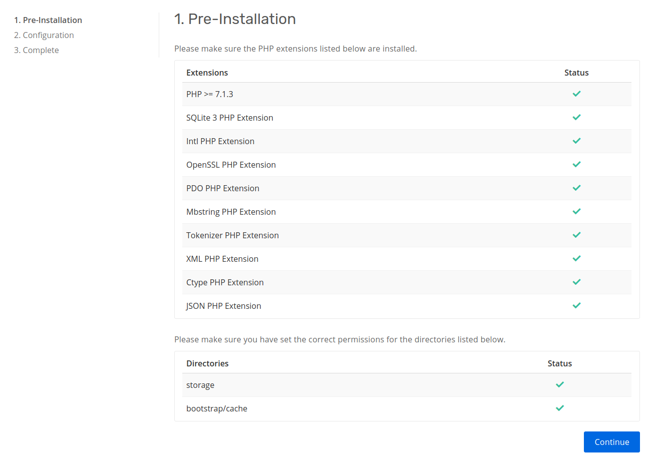 install page pre installation step